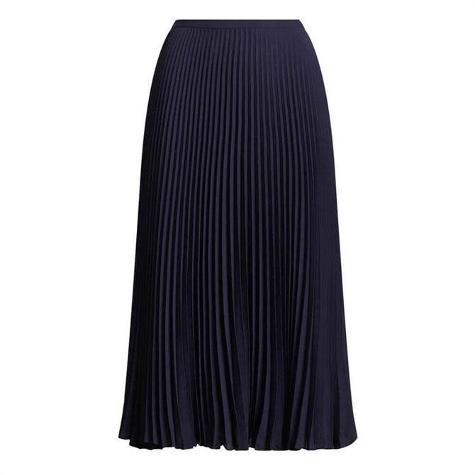 Lauren Ralph Lauren Pleated Georgette Skirt