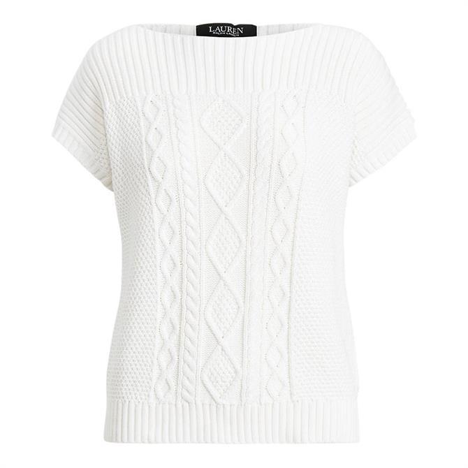 Lauren Ralph Lauren Aran Knit Combed Cotton Jumper