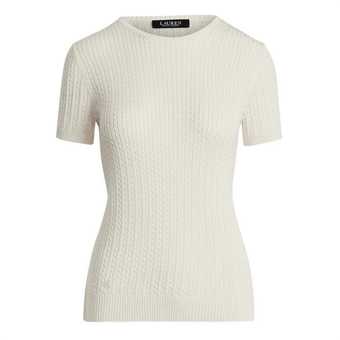 Lauren Ralph Lauren Cable-Knit Short Sleeve Jumper