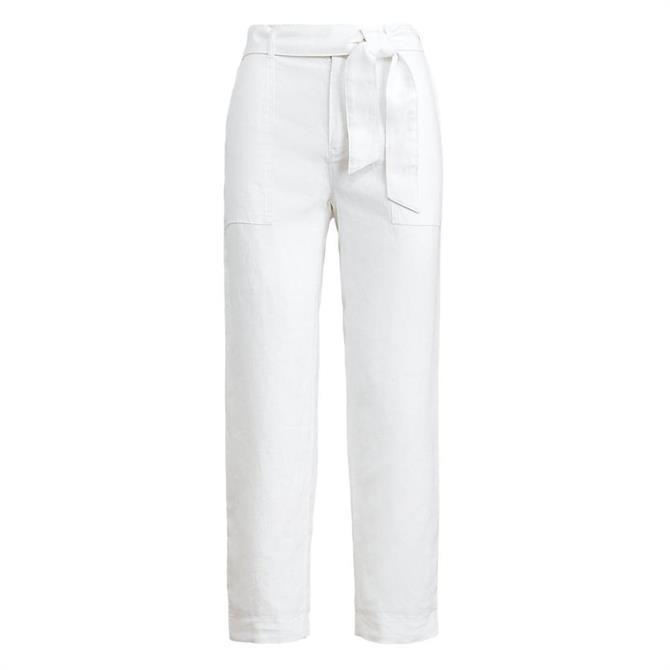 Lauren Ralph Lauren Belted Linen Pant