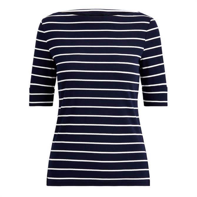 Lauren Ralph Lauren Striped Boatneck Top