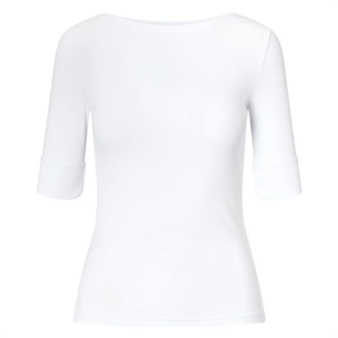 Lauren Ralph Lauren Cotton Boatneck White Top