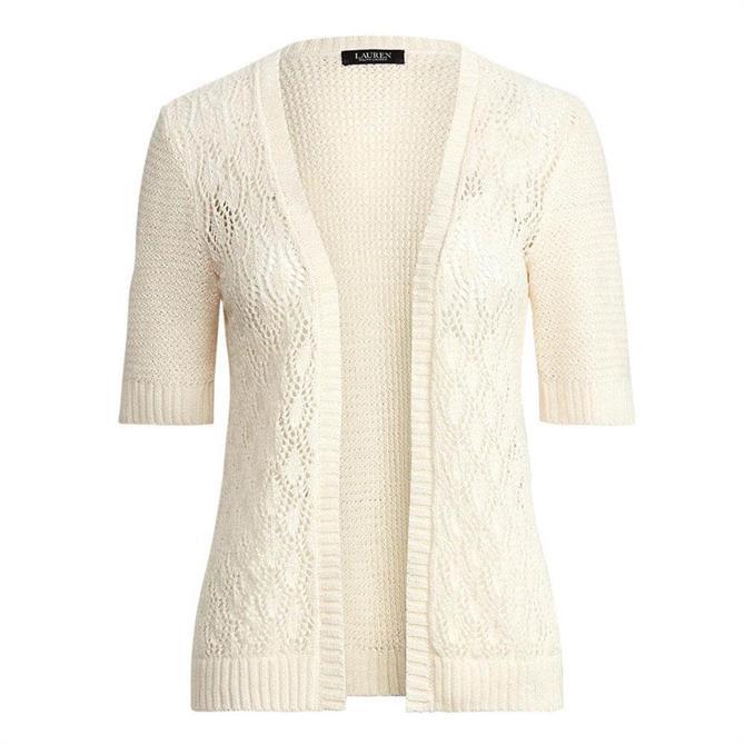 Lauren Ralph Lauren Short-Sleeve Linen Cardigan