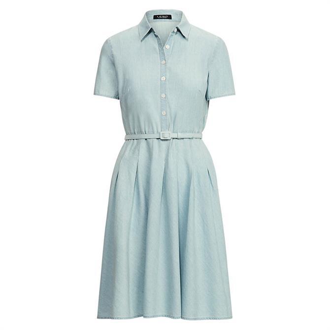 Lauren Ralph Lauren Chambray Short-Sleeve Dress