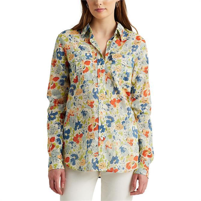 Lauren Ralph Lauren Floral Cotton Voile Shirt