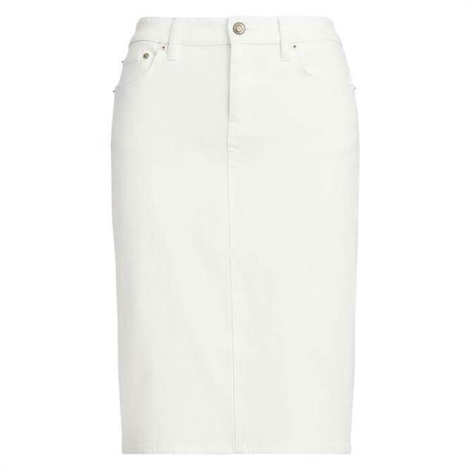 Lauren Ralph Lauren White Denim Skirt