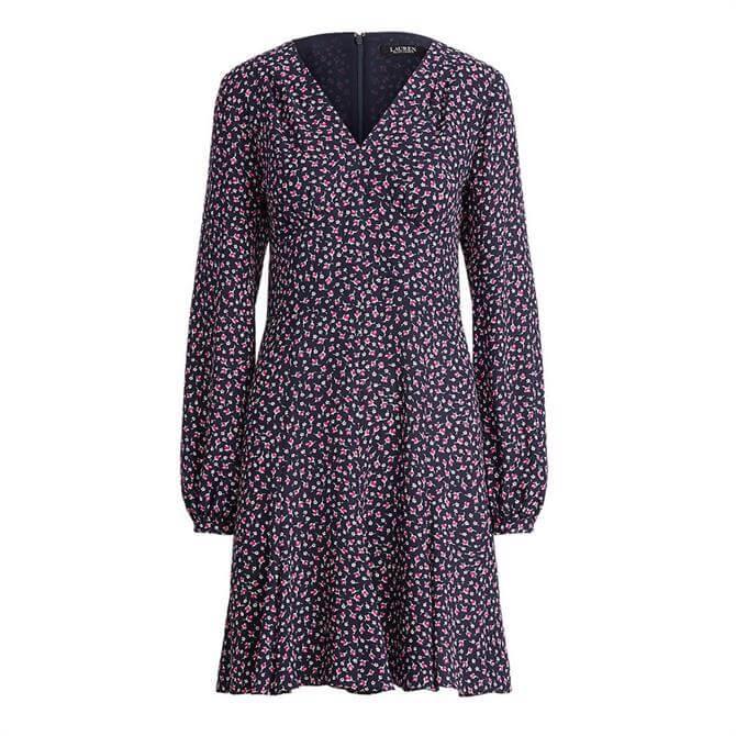 Lauren Ralph Lauren Floral Georgette Long-Sleeve Dress