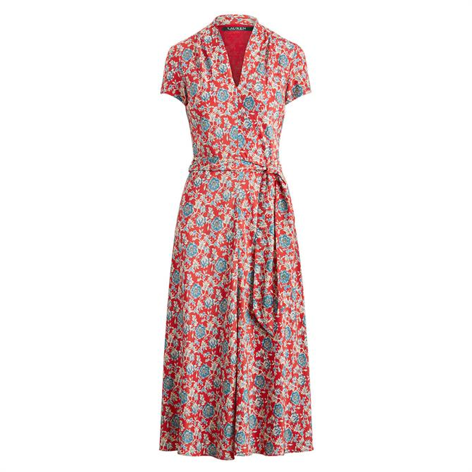 Lauren Ralph Lauren Floral Crepe Midi Dress