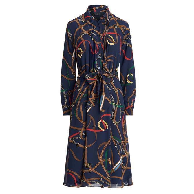 Lauren Ralph Lauren Print Georgette Shirt Dress