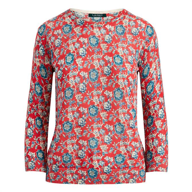 Lauren Ralph Lauren Floral Cotton-Linen Jumper