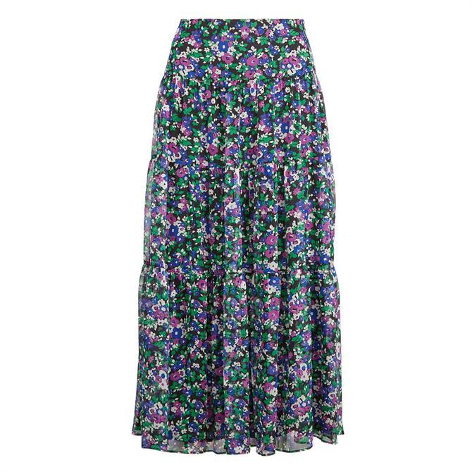Lauren Ralph Lauren Pauldina Ditsy Floral Midi Skirt