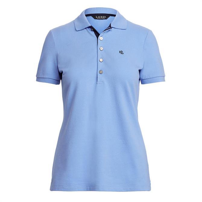 Lauren Ralph Lauren Blue Piqué Polo Shirt
