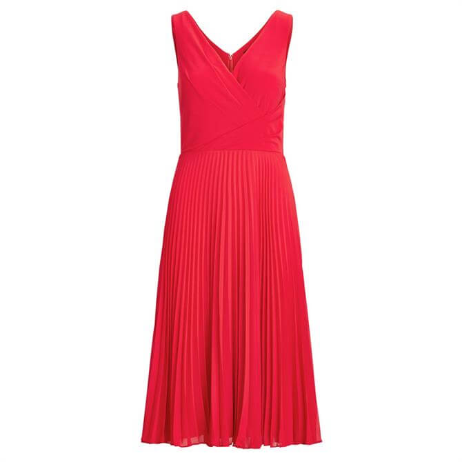 Lauren Ralph Lauren Pleated Matte Jersey Dress