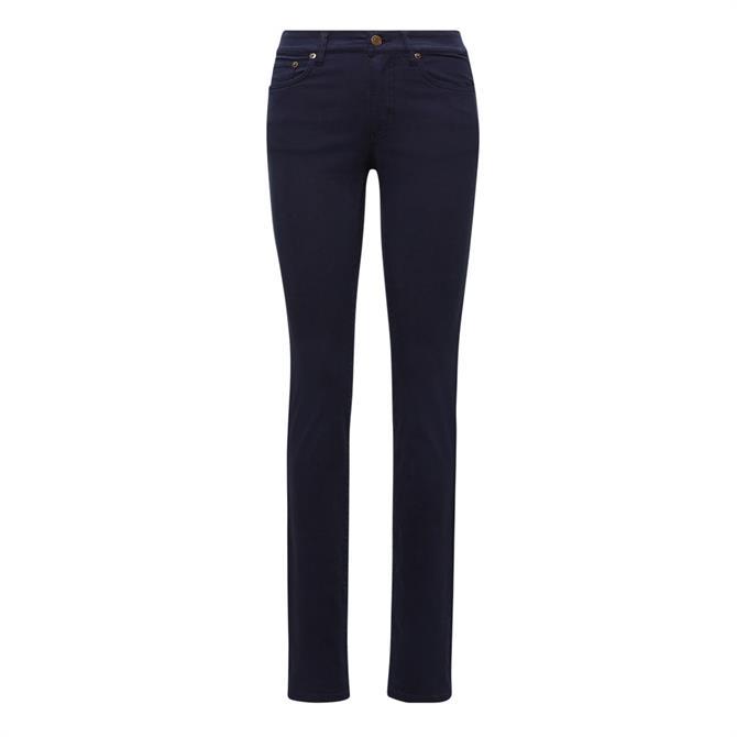 Lauren Ralph Lauren Premier Navy Straight Jean