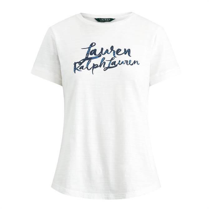 Lauren Ralph Lauren Script Logo Cotton Tee