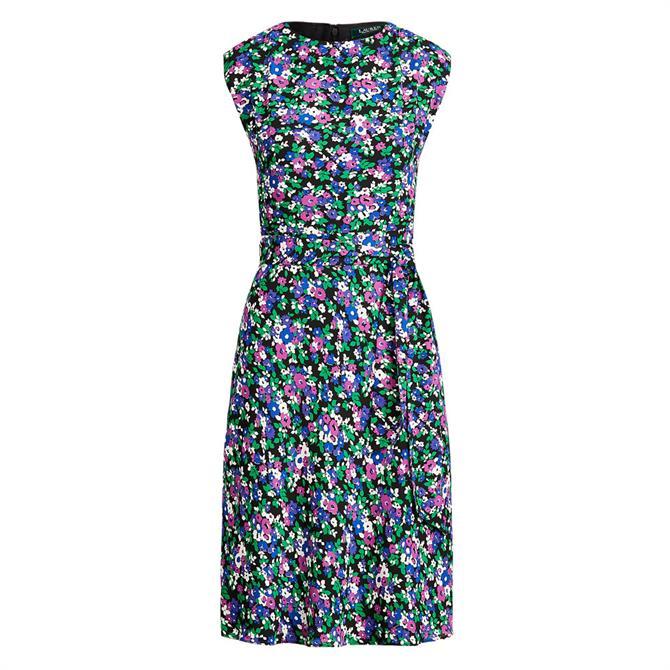 Lauren Ralph Lauren Vilodie Floral Tie Belt Dress
