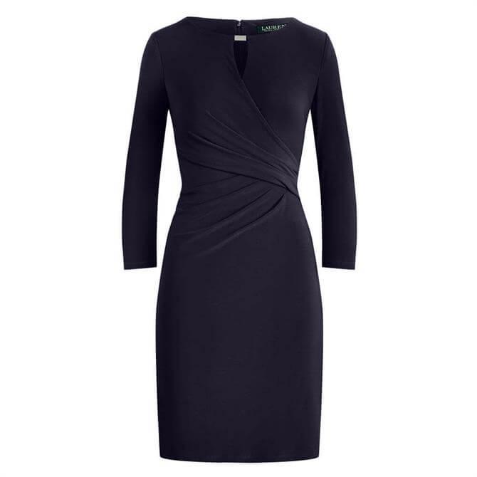 Lauren Ralph Lauren Wrap-Style Jersey Dress