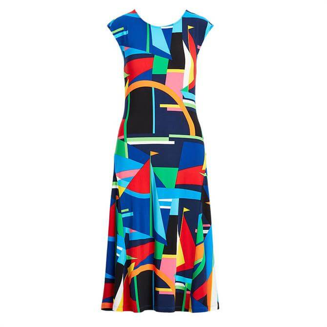 Lauren Ralph Lauren Print Stretch Jersey Midi Dress