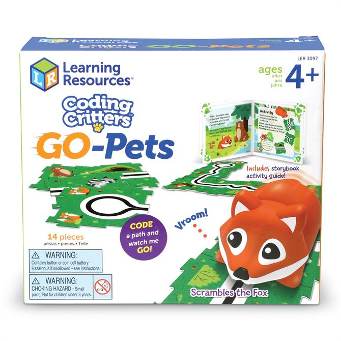 Learning Resources Coding Critters Go-Pets Scrambles the Fox