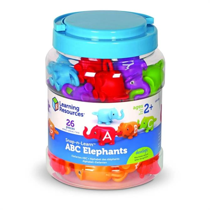 Learning Resources Snap And Learn ABC Elephants