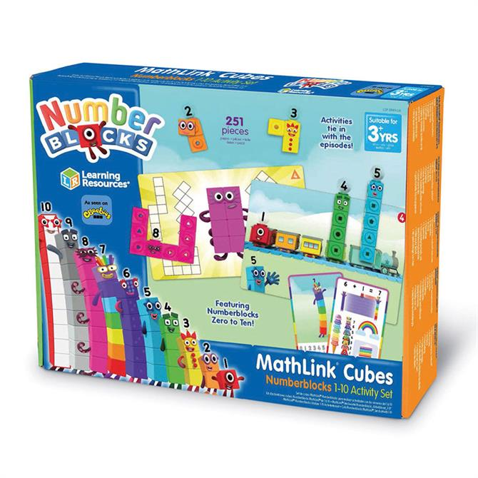 Learning Resources Mathlinks Cubes Numberblocks 1-10 Activity Set