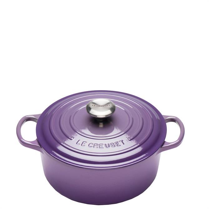 Le Creuset Signature Ulltra Violet Cast Iron 28cm Round Casserole