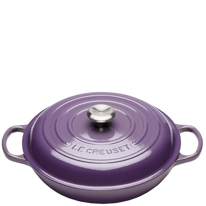Le Creuset Signature Ultra Violet Cast Iron Shallow 30cm Casserole