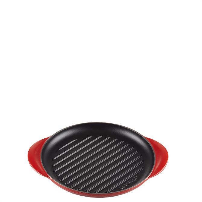 Le Creuset Cerise Cast Iron Classic Round Grill 25cm