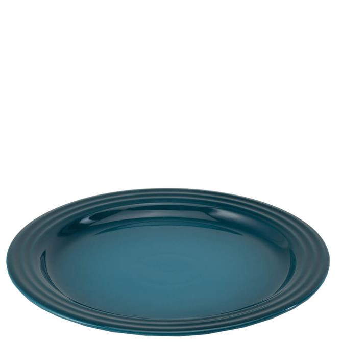 Le Creuset Deep Teal Stoneware Vancouver Dinner Plate 27cm
