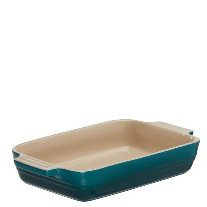 Le Creuset Deep Teal Stoneware Classic Rectangular Dish 25cm