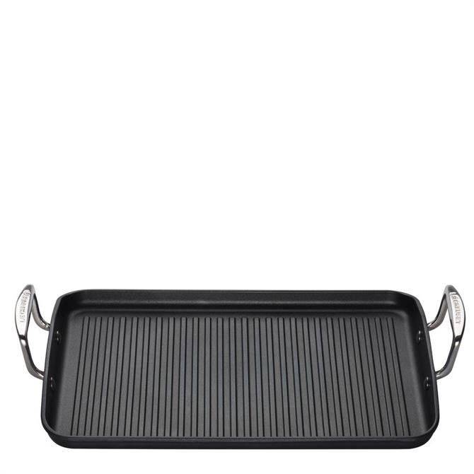 Le Creuset Toughened Non-Stick Ribbed Rectangular Grill 35cm