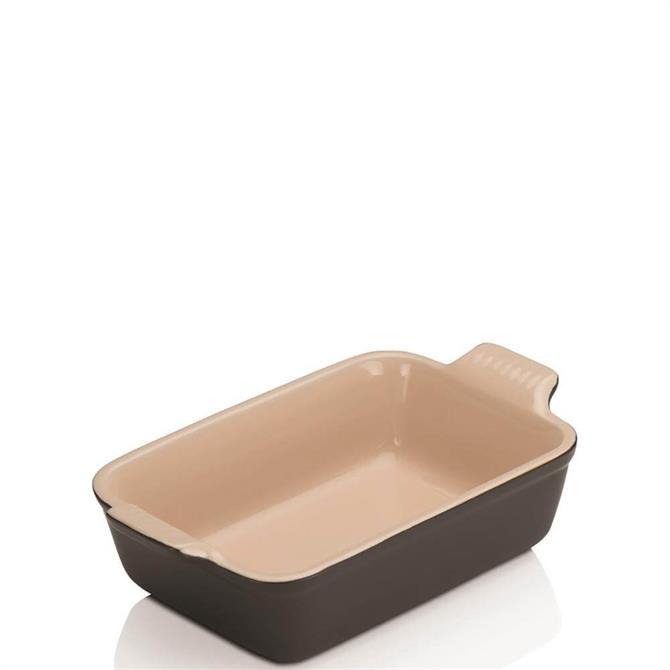 Le Creuset Satin Black Stoneware Small Heritage Rectangular Dish 19cm