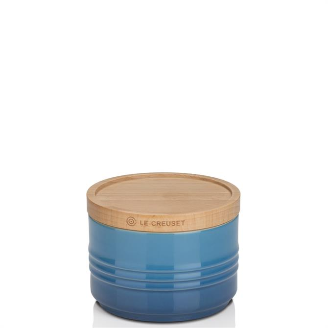 Le Creuset Stoneware Small Storage Jar with Wooden Lid