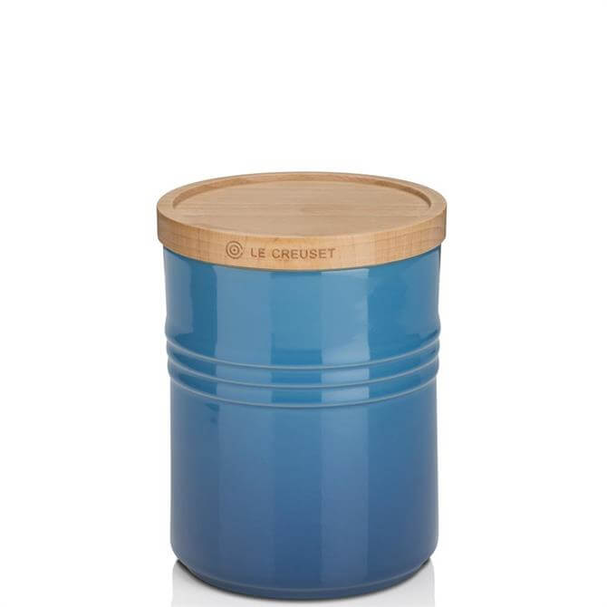Le Creuset Stoneware Medium Storage Jar with Wooden Lid