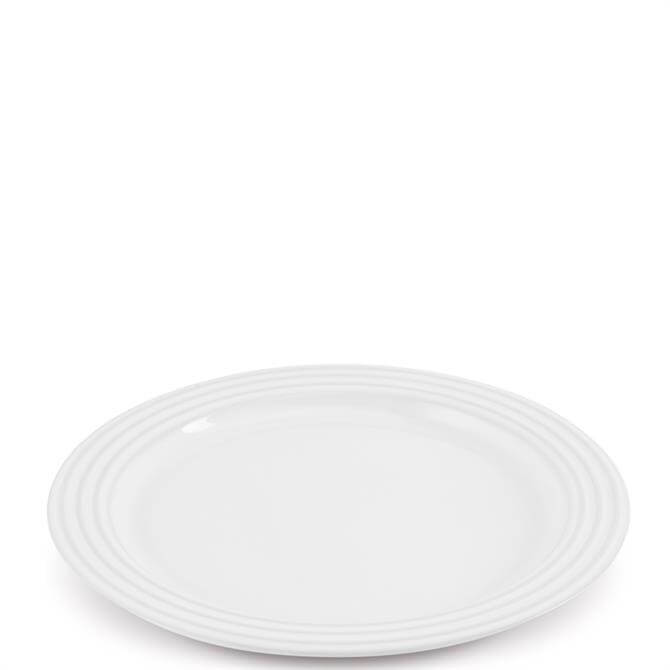 Le Creuset White Stoneware Dinner Plate 27cm