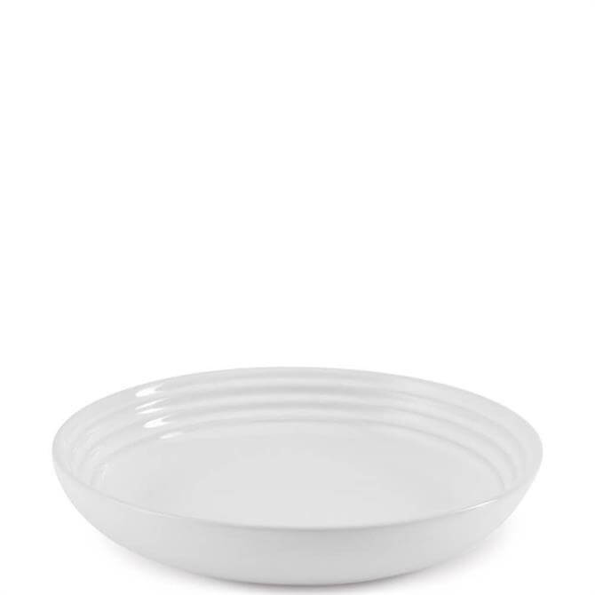 Le Creuset White Stoneware Pasta Bowl 22cm