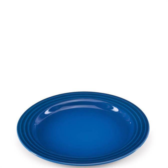 Le Creuset Marseille Blue Stoneware Side Plate 22cm