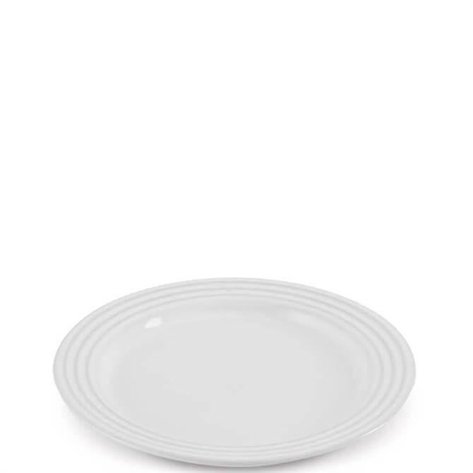Le Creuset White Stoneware Side Plate 22cm