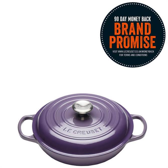 Le Creuset Signature Ultra Violet Cast Iron Shallow Casserole 26cm