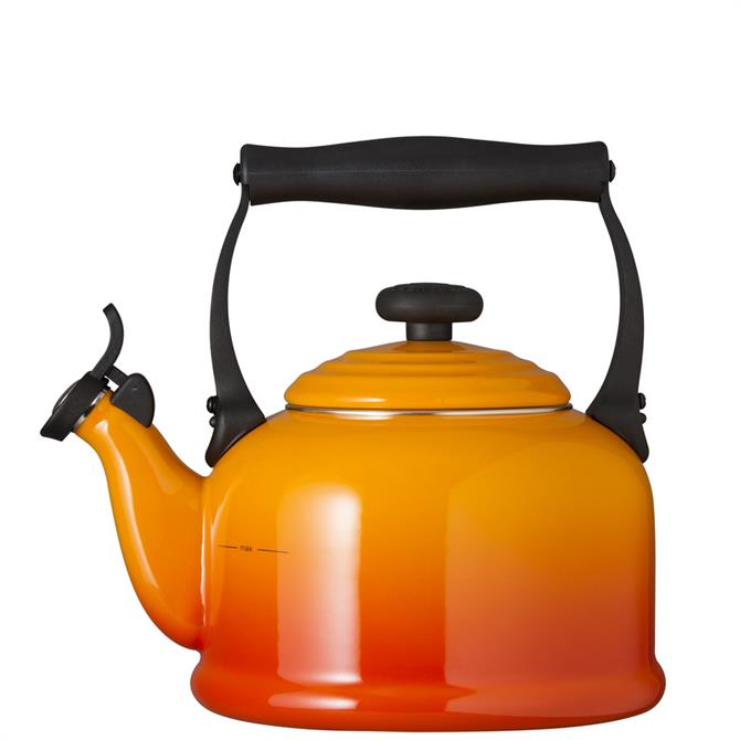 Le Creuset Volcanic Traditional Kettle with Fixed Whistle 2.1L