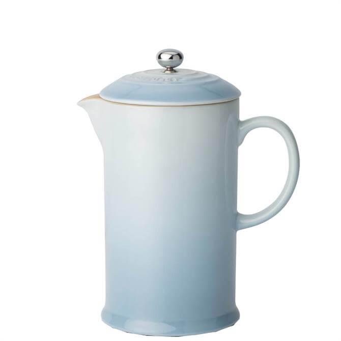 Le Creuset Coastal Blue Stoneware Cafetiere with Metal Press 1L