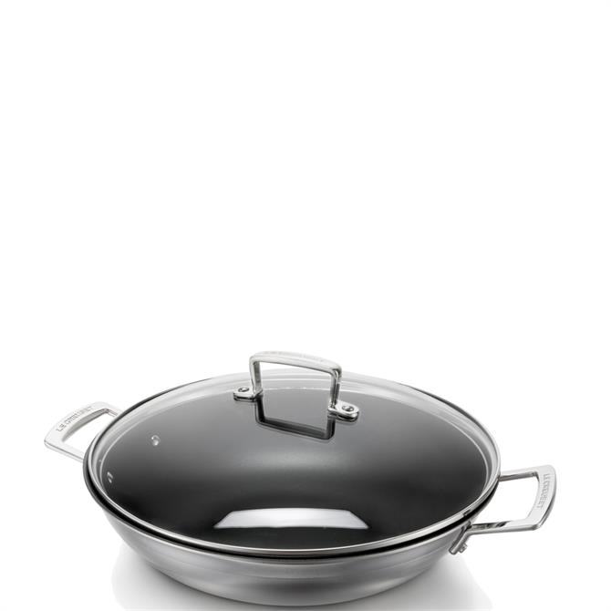 Le Creuset 3-Ply Stainless Steel 30cm Non-Stick Wok