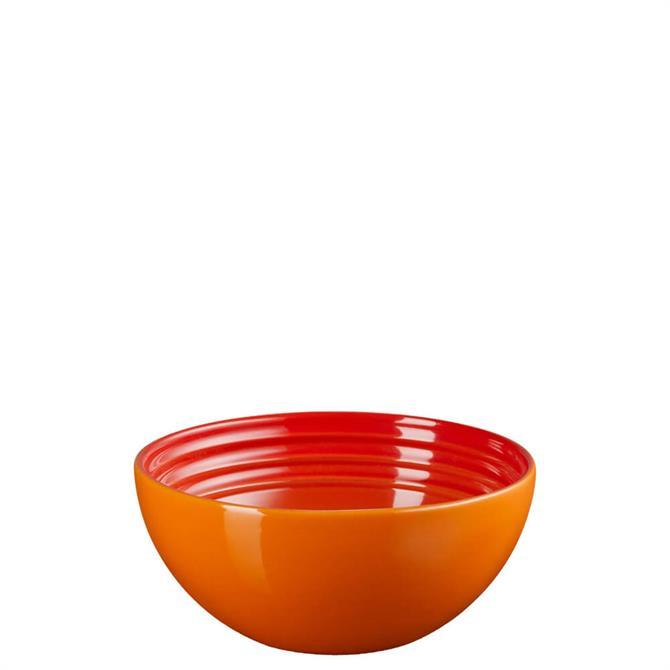 Le Creuset Volcanic Orange Stoneware Small Serving Bowl