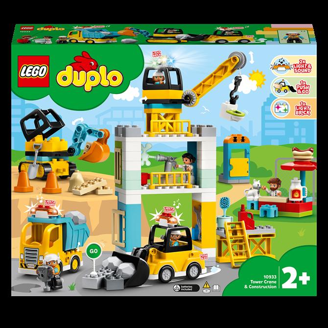 Lego Duplo Tower Crane Construction 10933 Set