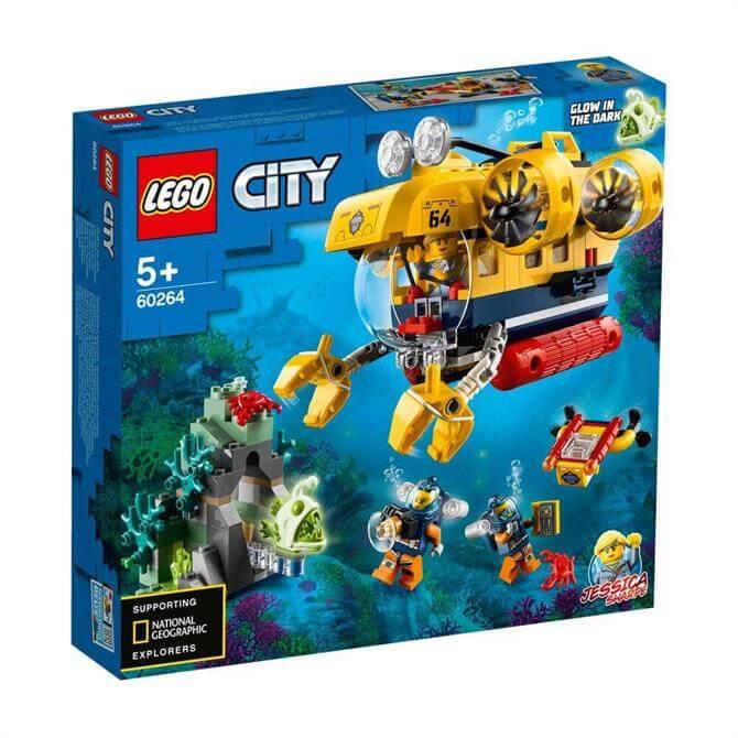 Lego City Ocean Exploration Submarine 60264 Set