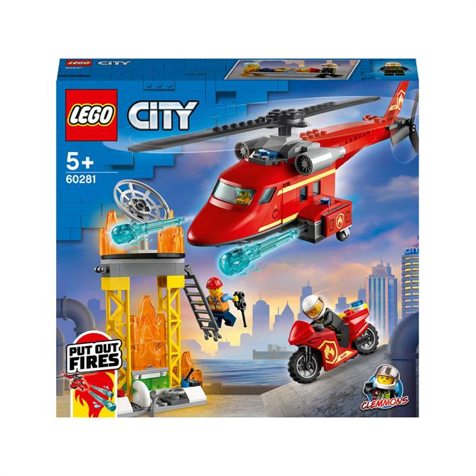 Lego City Fire Rescue Helicopter Set 60281
