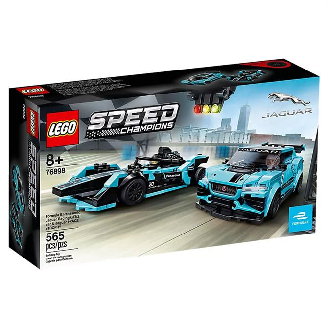 Lego Formula E Panasonic Jaguar Racing GEN2 car & Jaguar I-PACE eTROPHY Set 76898
