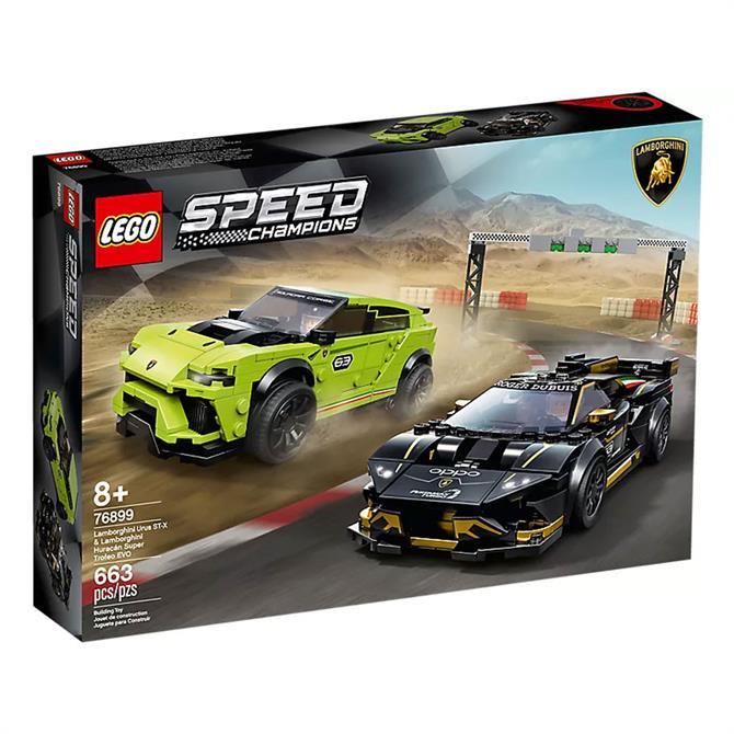 Lego Speed Champions Lamborghini Urus ST-X & Lamborghini Huracán Super Trofeo EVO Set 76899