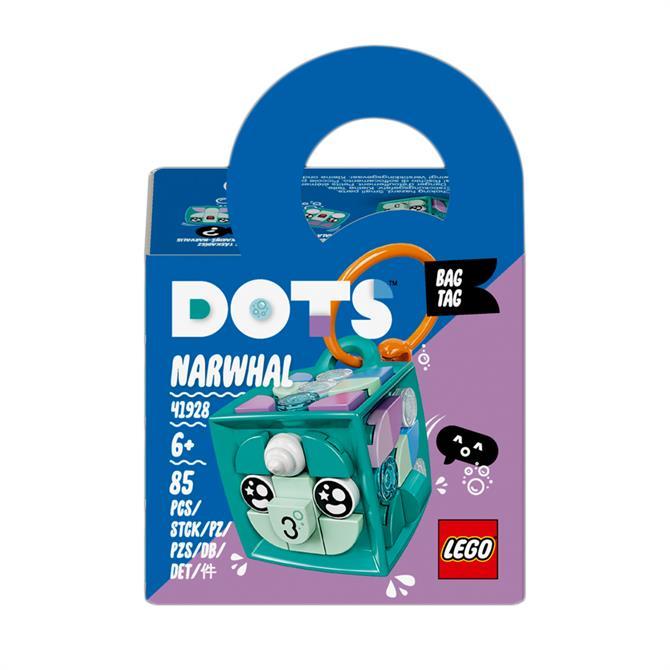 Lego Dots Bag Tag Narwhal Craft Set for Kids 41928