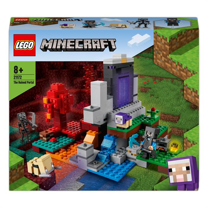Lego Minecraft The Ruined Portal Building Set 21172